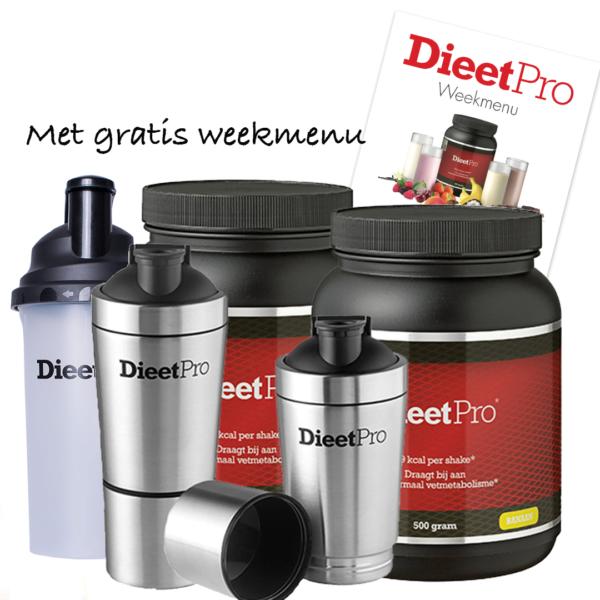 DieetPro RVS Shaker pakket 1