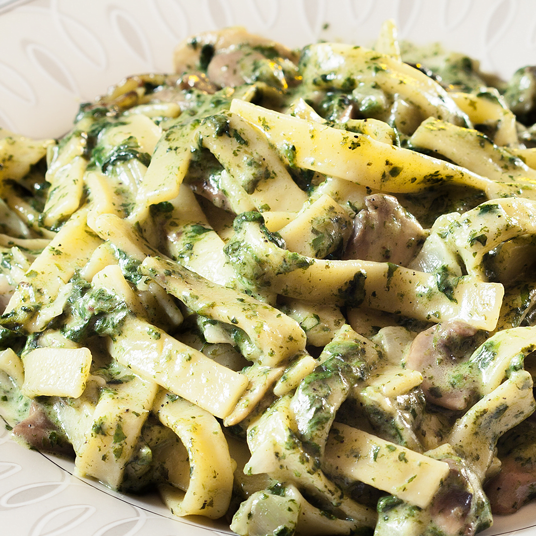 Slim Tagliatelle met kruidenkaas en spinazie 1