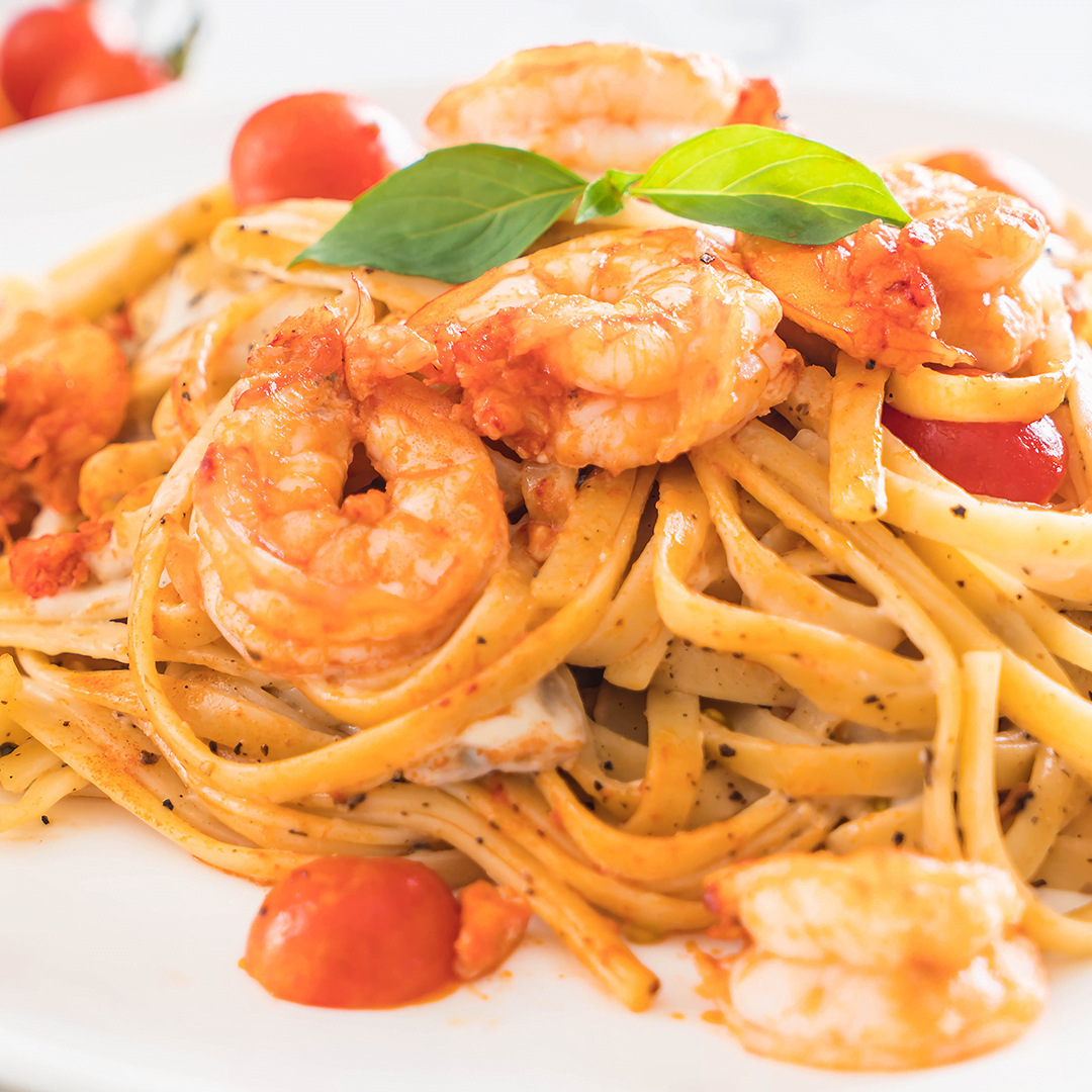 (Slim) Spaghetti met garnalen en tomaten 1