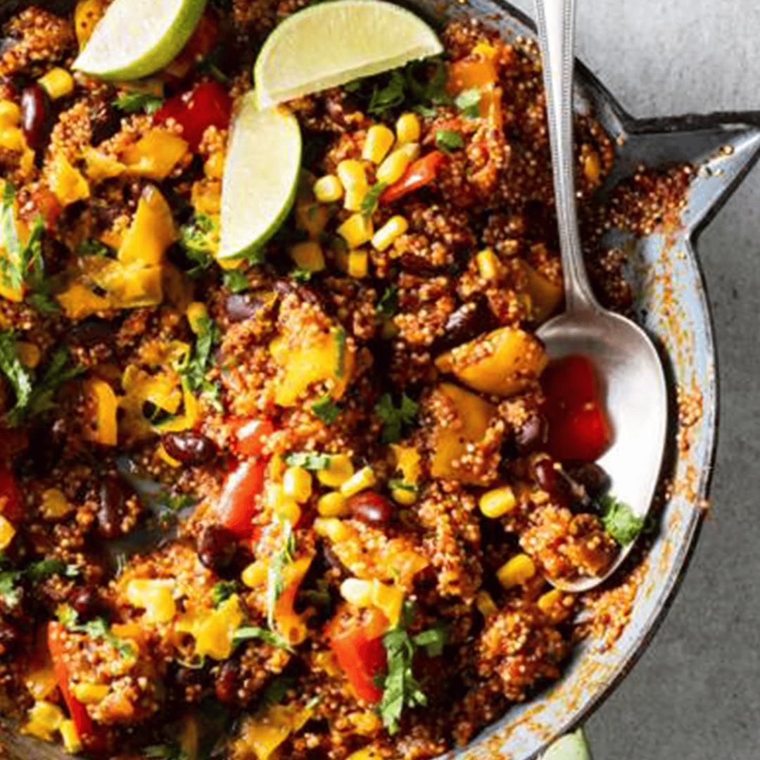 Mexicaans eenpansgerecht met quinoa (of Slim Rijst) 1